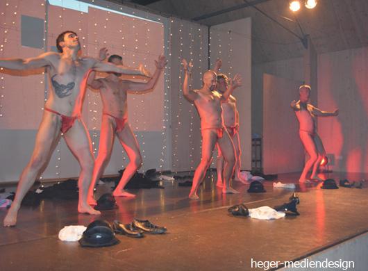 Nackte Frauen Auf Der Bühne
